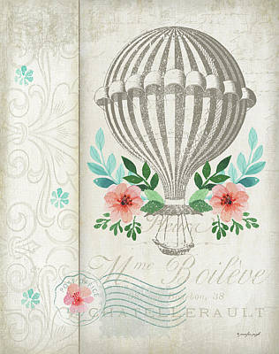 French Hot Air Balloon Poster by Jennifer Pugh