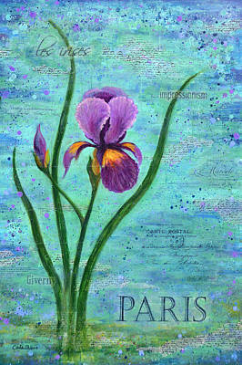 French Iris Poster by Carla Parris