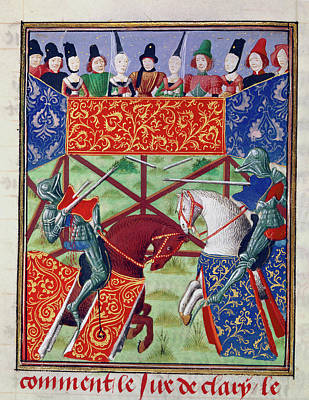 French Knights Jousting Poster
