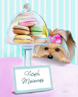French Macarons Poster