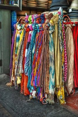 French Market Scarves Poster