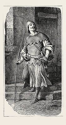 French Partisan Soldier 12th Century Poster