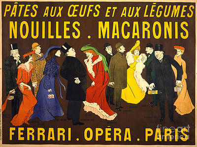 French Pasta Advertisement 1901 Poster by Padre Art