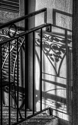 French Quarter Balcony Shadow Poster
