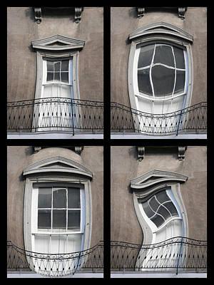 French Quarter Distorted Door Poster