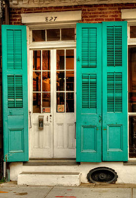 French Quarter Double Doors Poster