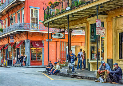 French Quarter - Hangin' Out 2 Poster by Steve Harrington
