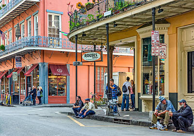 French Quarter - Hangin' Out Poster by Steve Harrington