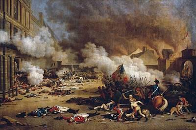 French Revolution 1792. Assault Poster by Everett