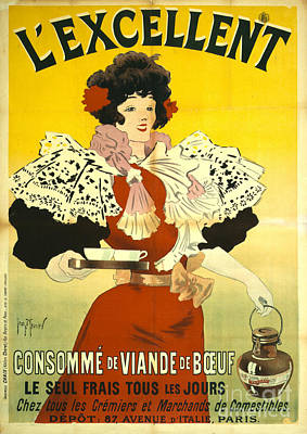 French Soup Advertisement 1895 Poster by Padre Art