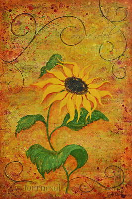 French Sunflower Poster by Carla Parris