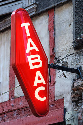 French Tobacconist Sign Poster