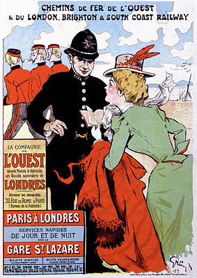 French Travel Advertising Poster Poster