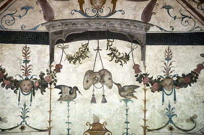 Fresco On The Ceiling In Palazzo Vecchio Poster by Melany Sarafis