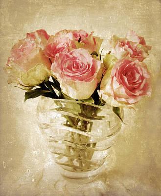 Fresco Roses Poster