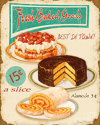 Fresh Baked Good Poster by Jean Plout