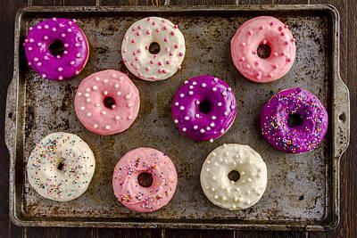 Fresh Baked Vanilla Bean Iced Donuts Poster by Teri Virbickis
