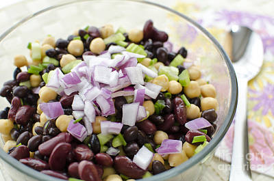 Poster featuring the photograph Fresh Bean Salad by Maria Janicki