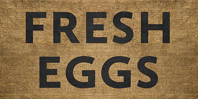 Poster featuring the digital art Fresh Eggs by Nancy Ingersoll