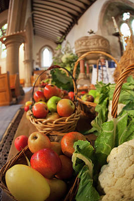 Fresh Food On Display On A Table Poster by John Short