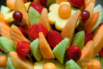 Fresh Fruit Arrangement Poster by Amy Cicconi