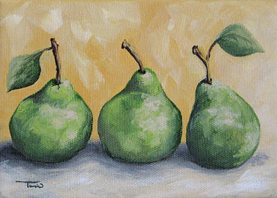Fresh Green Pears Poster by Torrie Smiley