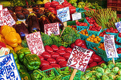 Fresh Market Vegetables Poster