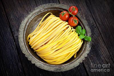 Fresh Pasta Poster by Mythja  Photography