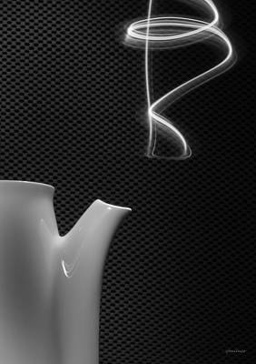 Poster featuring the photograph Fresh Pot Of Coffee- Light Painting by Steven Milner