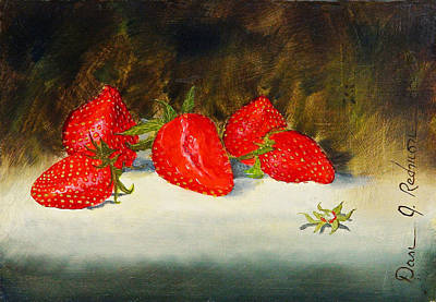 Poster featuring the painting Fresh Strawberries by Dan Redmon