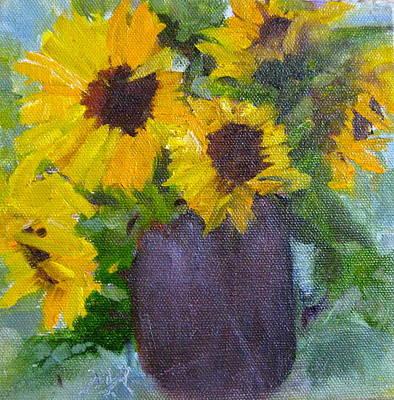 Fresh Sunflowers Poster