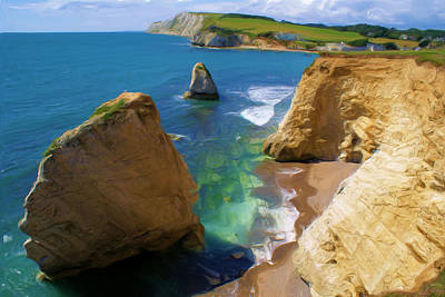 Freshwater Bay Poster by Ron Harpham