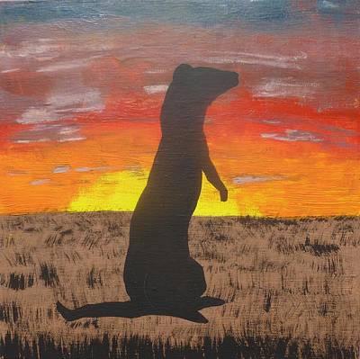 Frettaluna The Ferret Poster by Kansas Campbell