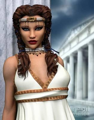 Poster featuring the digital art Freya by Sandra Bauser Digital Art