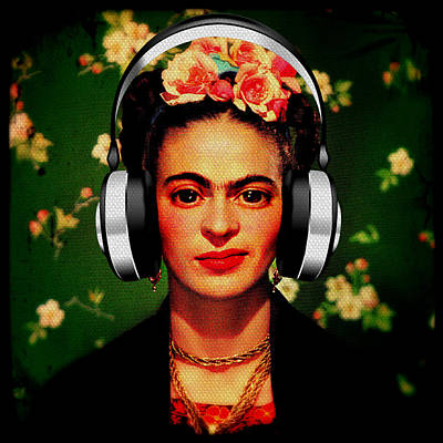 Poster featuring the mixed media Frida Jams by Michelle Dallocchio