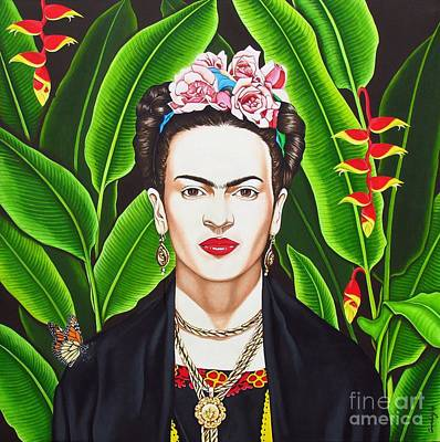 Poster featuring the painting Frida by Joseph Sonday
