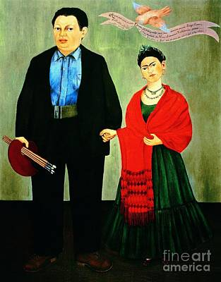 Frida Kahlo And Diego Rivera Poster by Pg Reproductions