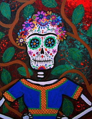 Frida Kahlo Dia De Los Muertos Poster