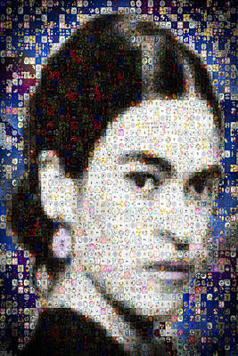 Frida Kahlo Mosaic Poster