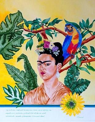 Frida Kahlo Poster by Thomas Gronowski