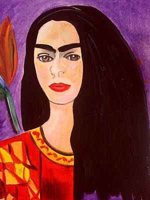 Frida Kahlo Young Poster