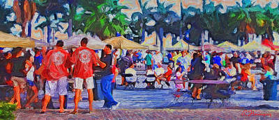 Friday Fest Fort Pierce Marina Poster by Richard Hemingway