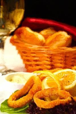 Fried Calamars Poster by Roberto Giobbi