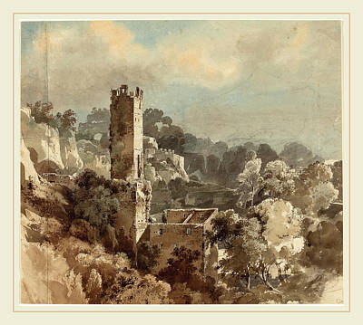Friedrich Salathé Swiss, 1793-1858, Ruins Of A Fortified Poster by Litz Collection