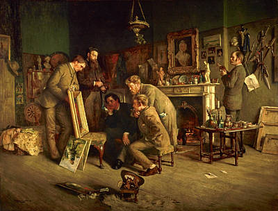 Friendly Critics, 1882-83 Oil On Canvas Poster by Charles Martin Hardie