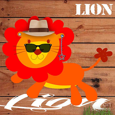Friendly Lion Collection Poster