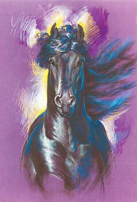 Friesian Horse Variant 1 Poster by Zorina Baldescu