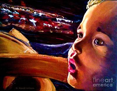 Poster featuring the painting Fright Of Dumbo by D Renee Wilson