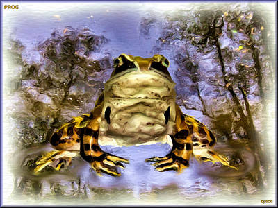 Poster featuring the digital art Frog by Daniel Janda