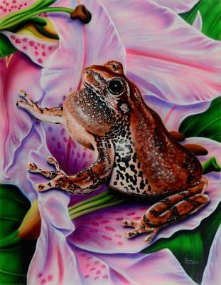 Frog Flower Poster